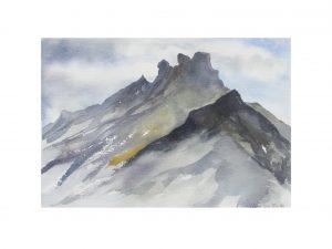Lofoten (Noorwegen). afmeting: ....x.... aquarel